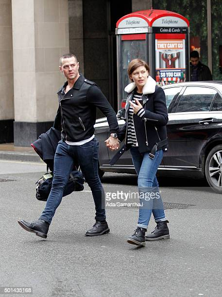 Matt and Emma Willis are pictured out after their announcement of expecting a third child on December 10 2015 in London England
