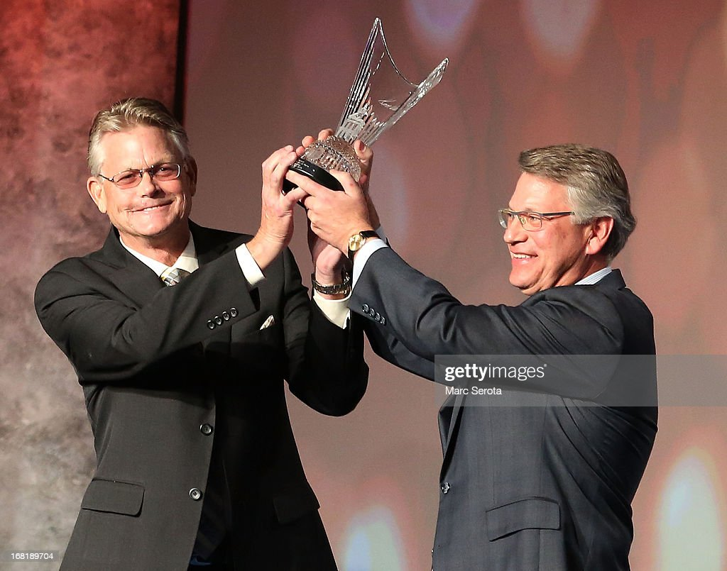 Matt and Tim Venturi, son's of Ken Venturi, induct their father into the World Golf Hall of Fame on May 6, 2013 at the World Golf Village in St Augustine, Florida.
