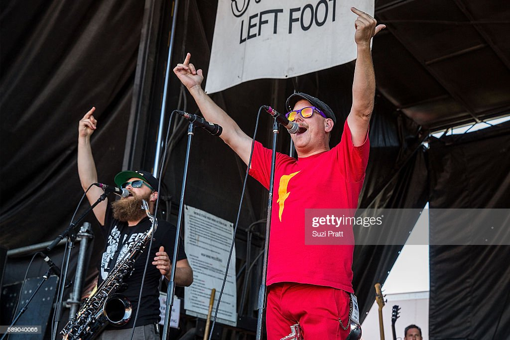 Matt Appleton and John Christianson of Reel Big Fish perform at the Vans Warped Tour at White River Amphitheatre on August 12 2016 in Auburn...