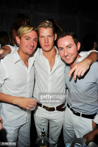 Matt Assante Nils Lawton and Dustin Terry attend AVENUE One Year Anniversary at AVENUE NYC on June 23 2010