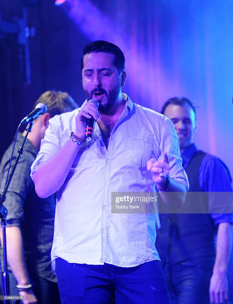 Matt Ban performs at the 'Rock Of Ages' Broadway Cast Reunion Concert at Highline Ballroom on January 25 2016 in New York City