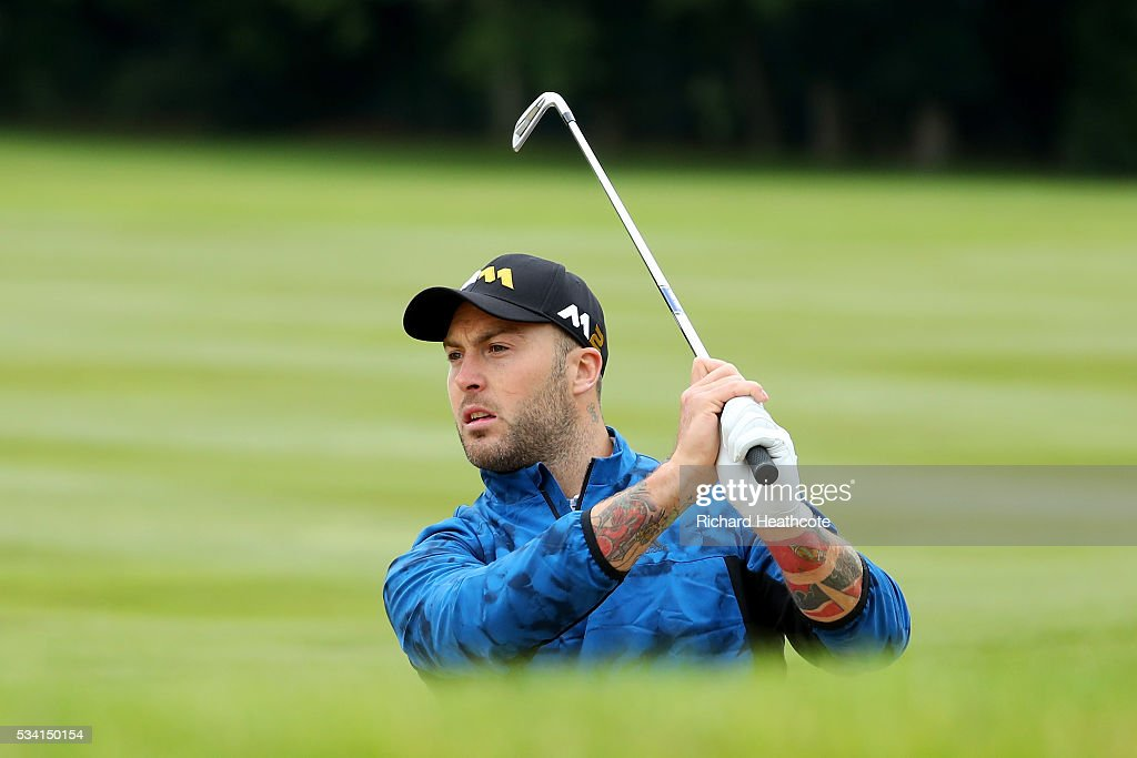 <a gi-track='captionPersonalityLinkClicked' href=/galleries/search?phrase=Matt+Banahan&family=editorial&specificpeople=2156682 ng-click='$event.stopPropagation()'>Matt Banahan</a> in action during the Pro-Am prior to the BMW PGA Championship at Wentworth on May 25, 2016 in Virginia Water, England.