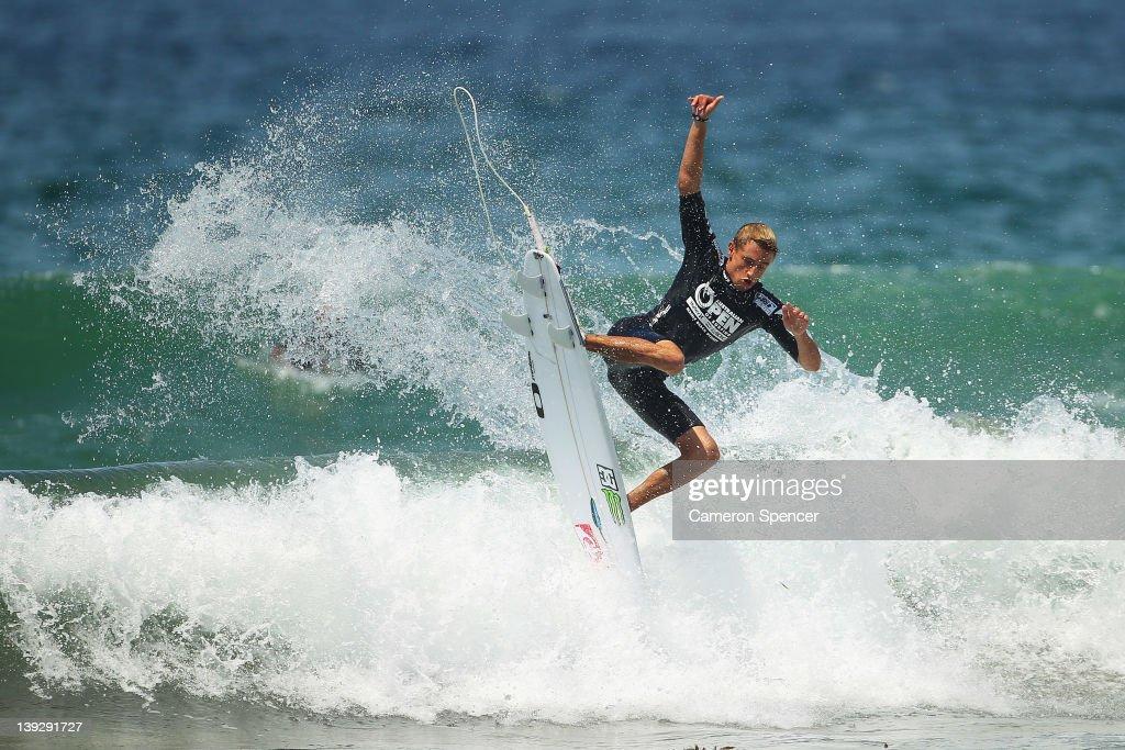 Matt Banting of Australia competes in the Men's Final of the 2012 Australian Surfing Open on February 19, 2012 in Manly, Australia.