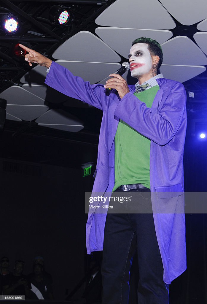 Matt Barnes dressed as The Joker attends Los Angeles Clipper Matt Barnes' 'Welcome Back To LA' Post-Game Halloween Party at The Conga Room at L.A. Live on October 31, 2012 in Los Angeles, California.