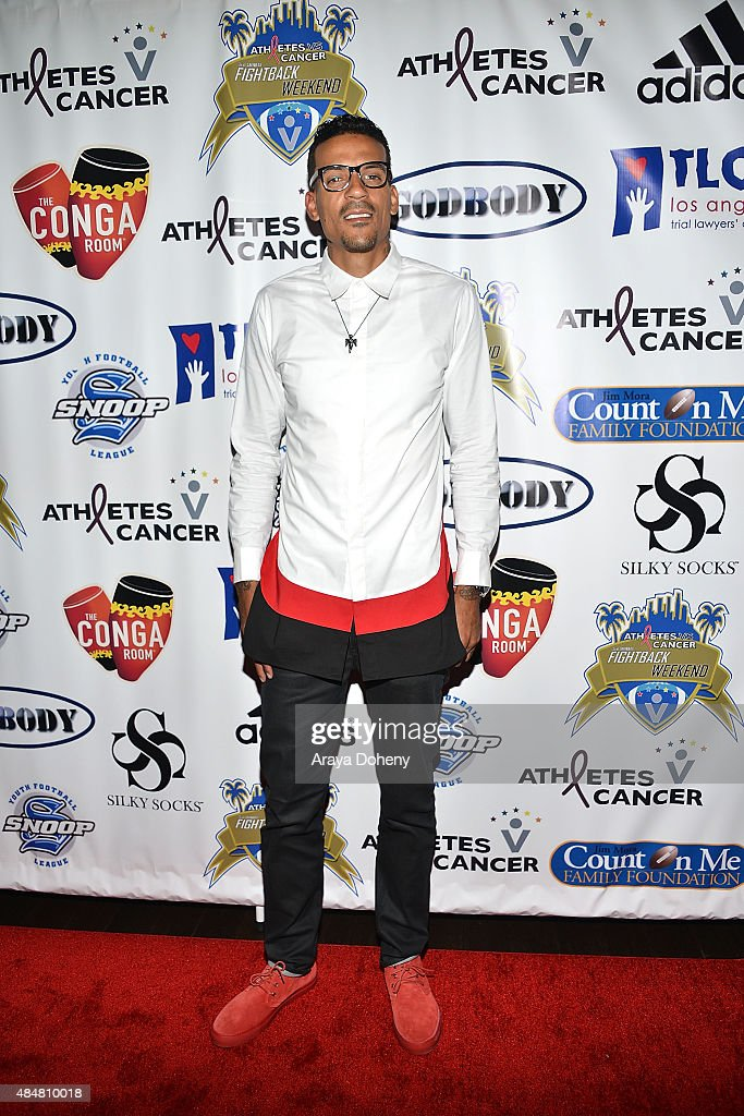 Matt Barnes hosts athletes vs. Cancer Fightback Comedy Jam at Conga Room on August 21, 2015 in Los Angeles, California.