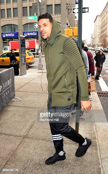 Matt Barnes is seen walking in Soho on February 10 2016 in New York City