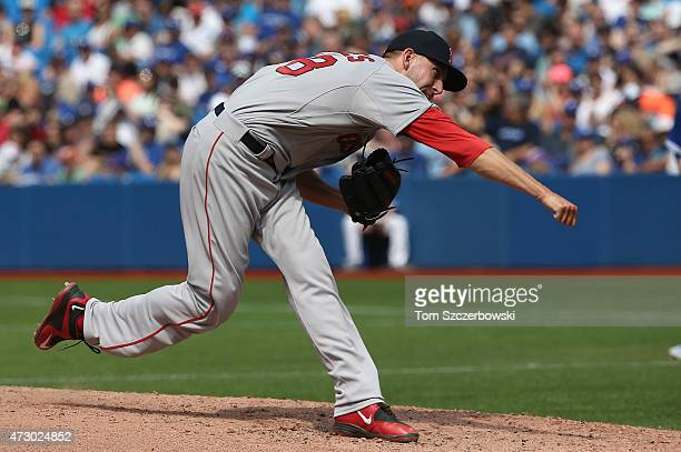 Matt Barnes of the Boston Red Sox delivers a pitch during MLB game action against the Toronto Blue Jays on May 9 2015 at Rogers Centre in Toronto...