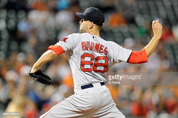 Matt Barnes of the Boston Red Sox pitches against the Baltimore Orioles at Oriole Park at Camden Yards on September 14 2015 in Baltimore Maryland