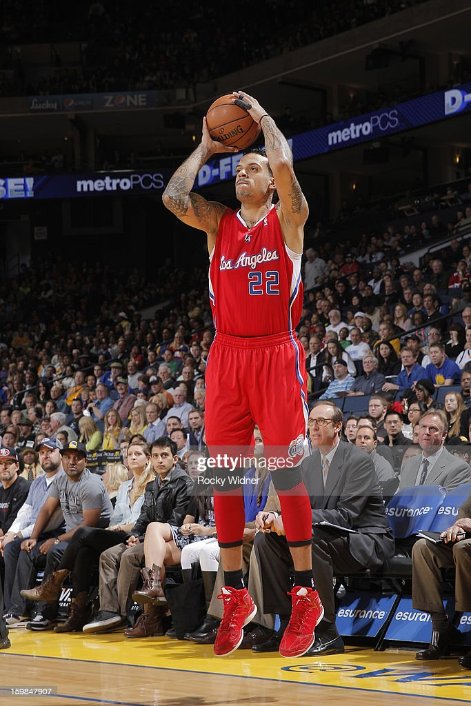Matt Barnes #22 of the Los Angeles Clippers attempts a three pointer against the Golden State Warriors on January 21, 2013 at Oracle Arena in Oakland, California.