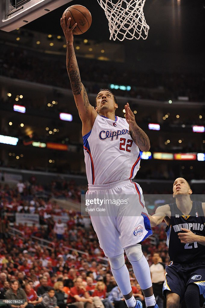 <a gi-track='captionPersonalityLinkClicked' href=/galleries/search?phrase=Matt+Barnes+-+Basketball+Player&family=editorial&specificpeople=202880 ng-click='$event.stopPropagation()'>Matt Barnes</a> #22 of the Los Angeles Clippers drives to the basket against the Memphis Grizzlies at Staples Center in Game One of the Western Conference Quarterfinals during the 2013 NBA Playoffs on April 20, 2013 in Los Angeles, California.