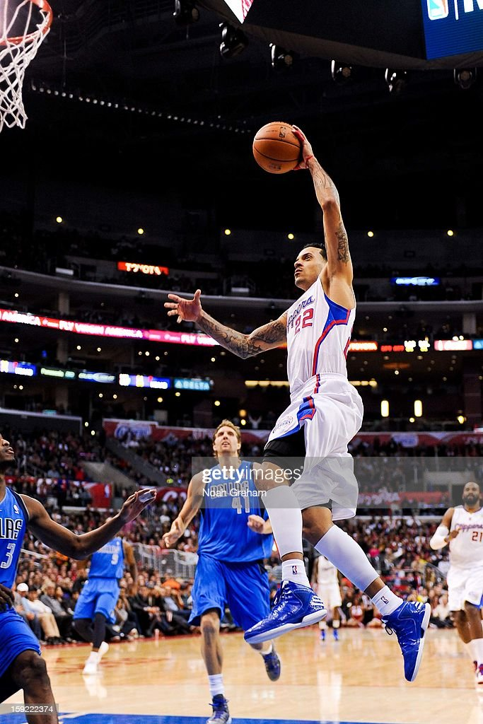 <a gi-track='captionPersonalityLinkClicked' href=/galleries/search?phrase=Matt+Barnes+-+Basketball+Player&family=editorial&specificpeople=202880 ng-click='$event.stopPropagation()'>Matt Barnes</a> #22 of the Los Angeles Clippers dunks against the Dallas Mavericks at Staples Center on January 9, 2013 in Los Angeles, California.