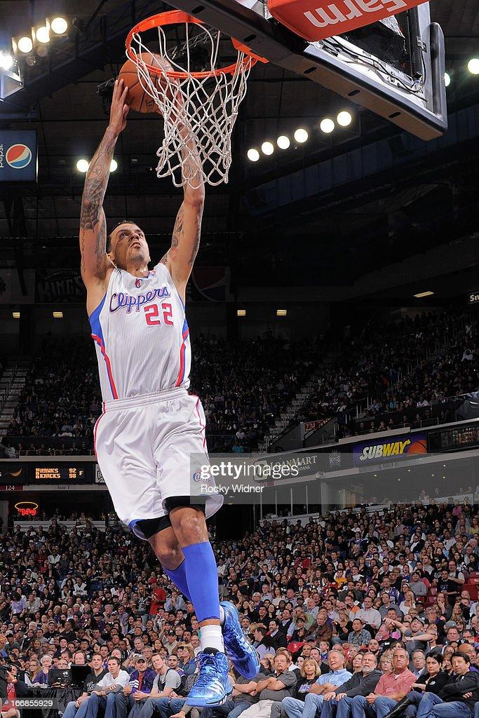Matt Barnes #22 of the Los Angeles Clippers dunks the ball against the Sacramento Kings on April 17, 2013 at Sleep Train Arena in Sacramento, California.