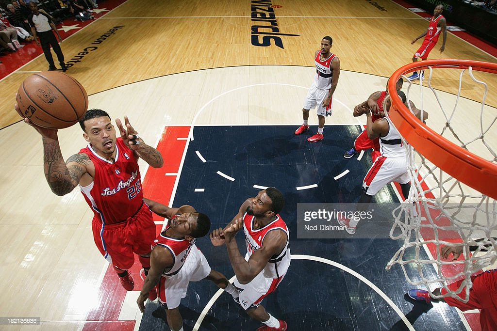 <a gi-track='captionPersonalityLinkClicked' href=/galleries/search?phrase=Matt+Barnes+-+Basketball+Player&family=editorial&specificpeople=202880 ng-click='$event.stopPropagation()'>Matt Barnes</a> #22 of the Los Angeles Clippers shoots against the Washington Wizards on February 4, 2013 at the Verizon Center in Washington, DC.