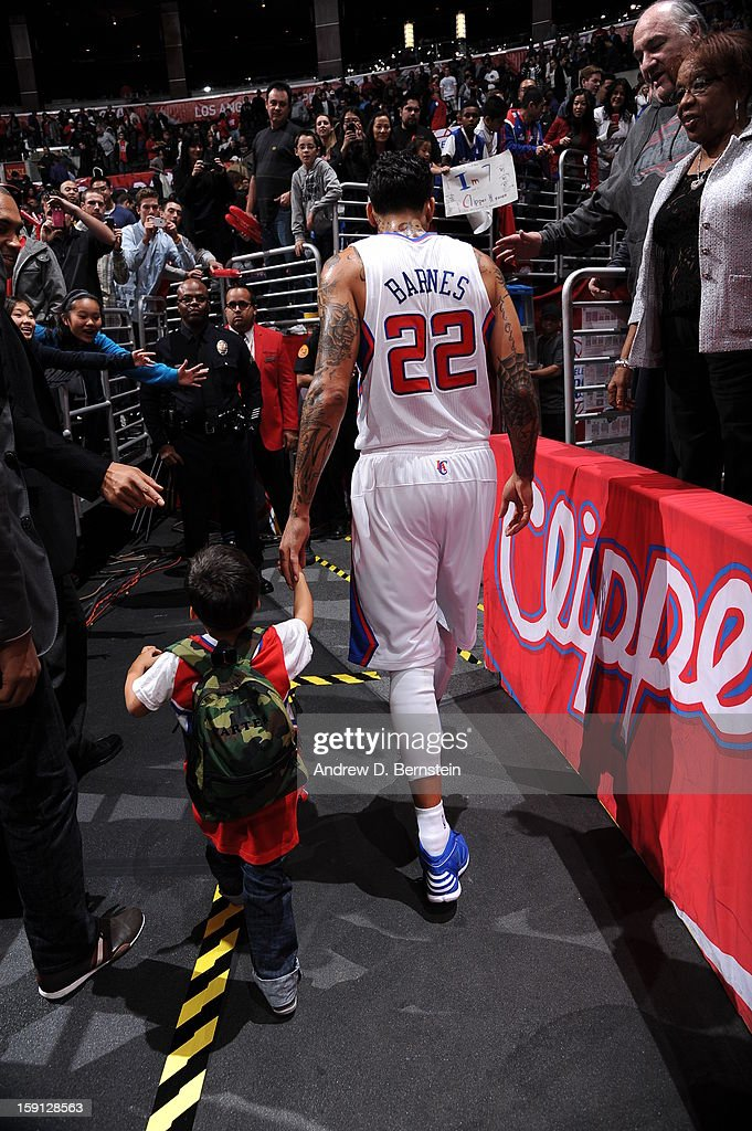 Matt Barnes #22 of the Los Angeles Clippers walks into the locker room in the game against the Golden State Warriors at Staples Center on January 5, 2013 in Los Angeles, California.