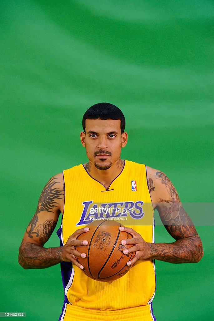 <a gi-track='captionPersonalityLinkClicked' href=/galleries/search?phrase=Matt+Barnes+-+Basketball+Player&family=editorial&specificpeople=202880 ng-click='$event.stopPropagation()'>Matt Barnes</a> #9 of the Los Angeles Lakers poses for a television segment during Media Day at the Toyota Center on September 25, 2010 in El Segundo, California.