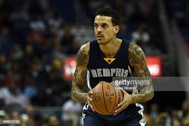 Matt Barnes of the Memphis Grizzlies handles the ball during a game against the New Orleans Pelicans at the Smoothie King Center on December 1 2015...
