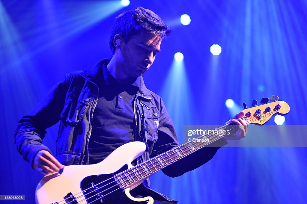 Matt Barnes of You Me At Six performs on stage at Wembley Arena on December 8, 2012 in London, England.
