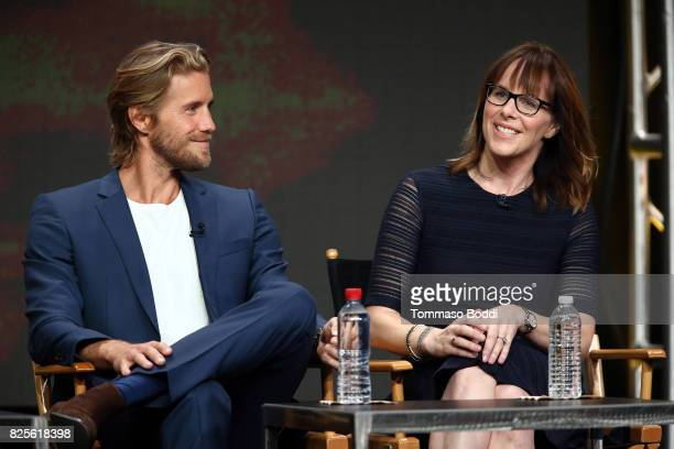Matt Barr and Anna Fricke attend the 2017 Summer TCA Tour CW Panels at The Beverly Hilton Hotel on August 2 2017 in Beverly Hills California