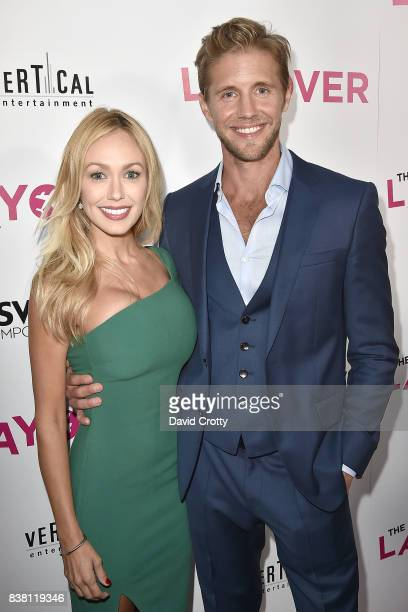 Matt Barr and Guest attend the Premiere Of DIRECTV And Vertical Entertainment's 'The Layover' Arrivals at ArcLight Cinemas on August 23 2017 in...