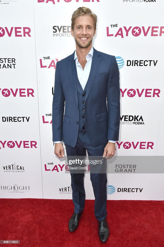Matt Barr attends the Premiere Of DIRECTV And Vertical Entertainment's 'The Layover' - Arrivals at ArcLight Cinemas on August 23, 2017 in Hollywood, California.