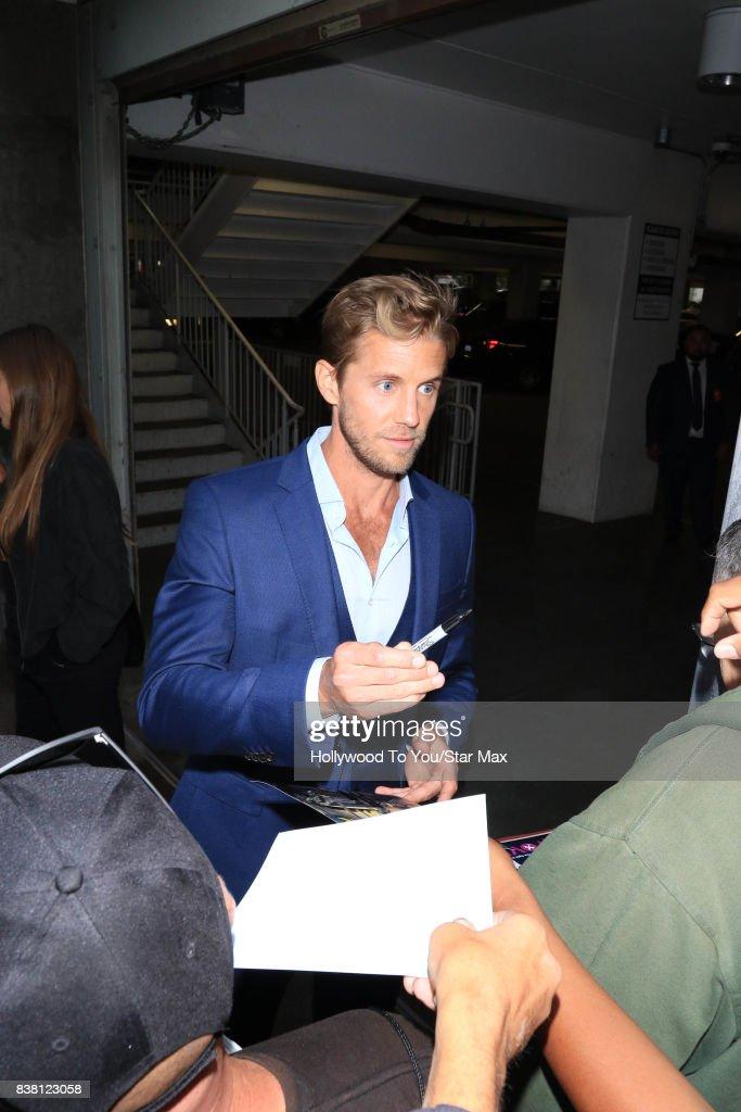 Matt Barr is seen on August 23, 2017 in Los Angeles, CA.