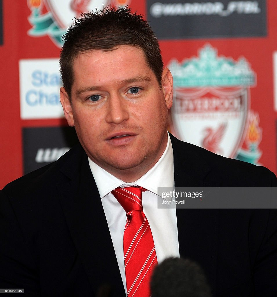 Matt Beard Liverpool FC Ladies Manager appears at a Press Conference at Melwood Training Ground on September 26, 2013 in Liverpool, England.