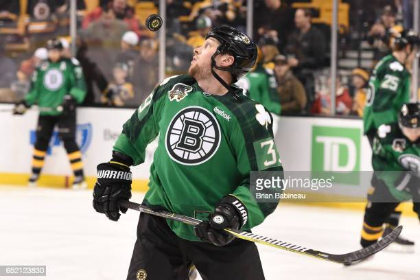 Matt Beleksey of the Boston Bruins warms up before the game against the Philadelphia Flyers at the TD Garden on March 11 2017 in Boston Massachusetts