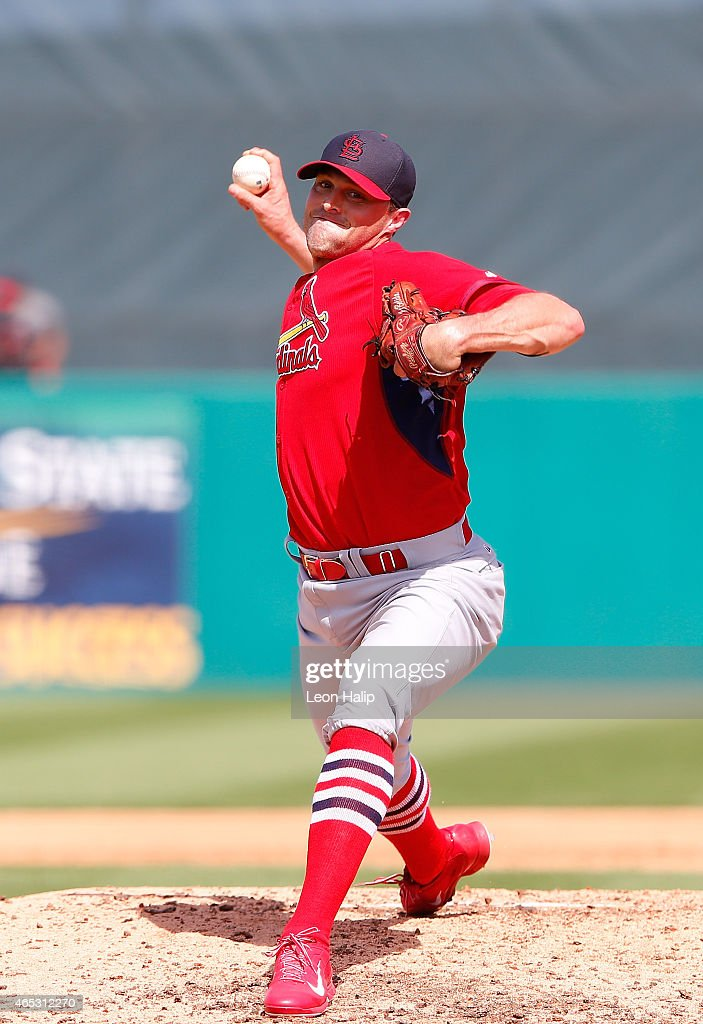 <a gi-track='captionPersonalityLinkClicked' href=/galleries/search?phrase=Matt+Belisle&family=editorial&specificpeople=666580 ng-click='$event.stopPropagation()'>Matt Belisle</a> #37 of the St. Louis Cardinals pitches during the fifth inning of the spring training game against the Miami Marlins at Roger Dean Stadium on March 5, 2015 in Jupiter, Florida. The Cardinals defeated the Marlins 4-1.