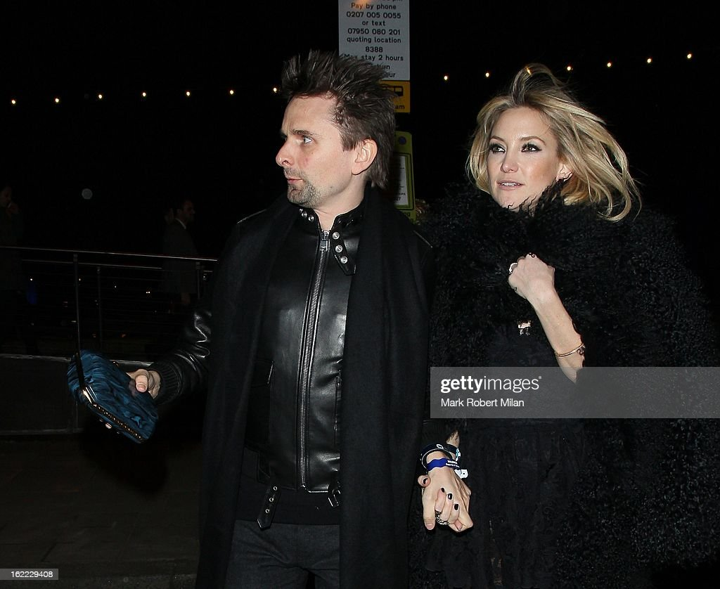 Matt Bellamy and Kate Hudson at the Warner Music in association with Vanity Fair BRITs aftershow party at The Savoy Hotel on February 20, 2013 in London, England.