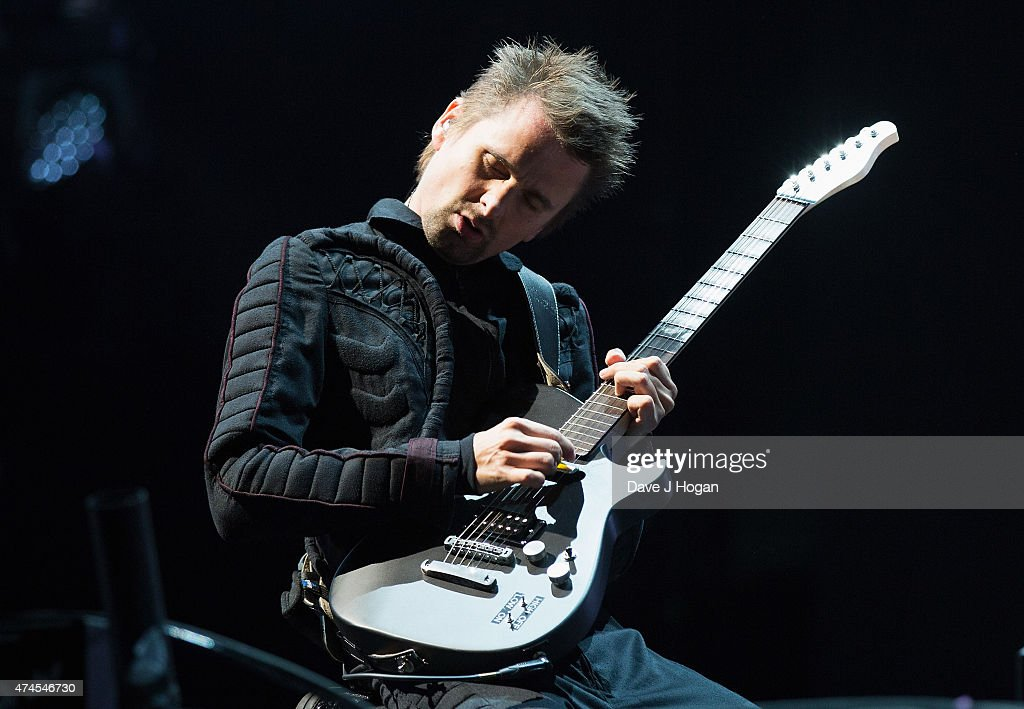 Matt Bellamy of Muse performs on stage during BBC Radio 1's Big Weekend Norwich 2015 at Earlham Park on May 23 2015 in Norwich England
