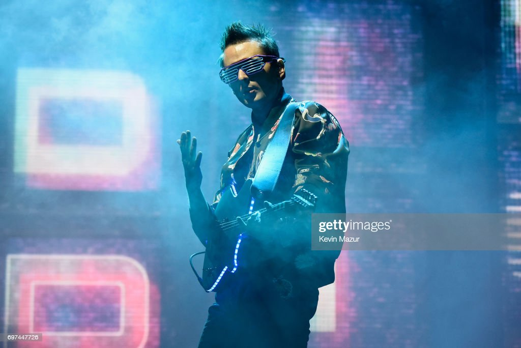 Matt Bellamy of Muse performs onstage during the 2017 Firefly Music Festival on June 18, 2017 in Dover, Delaware.