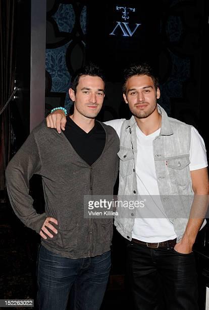 Matt Bendik of AV Hospitality and actor Ryan Guzman attend actor Ryan Guzman's 25th Birthday at AV Nightclub on September 17 2012 in Hollywood...