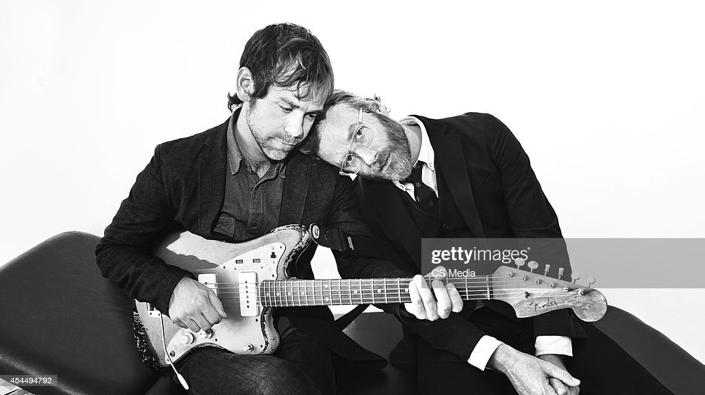 Matt Berninger and Aaron Dessner of indie rock band The National are photographed on November 4, 2014 in Berlin, Germany.
