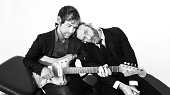 Matt Berninger and Aaron Dessner of indie rock band The National are photographed on November 4 2014 in Berlin Germany