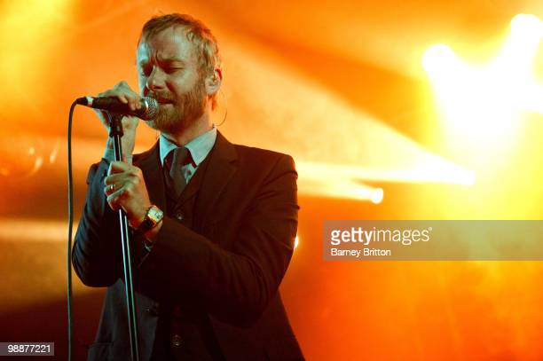 Matt Berninger of The National performs on stage at Electric Ballroom on May 5 2010 in London England