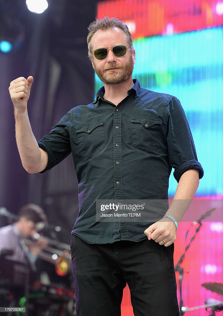 <a gi-track='captionPersonalityLinkClicked' href=/galleries/search?phrase=Matt+Berninger&family=editorial&specificpeople=4334193 ng-click='$event.stopPropagation()'>Matt Berninger</a> of The National performs onstage at What Stage during day 4 of the 2013 Bonnaroo Music & Arts Festival on June 16, 2013 in Manchester, Tennessee.
