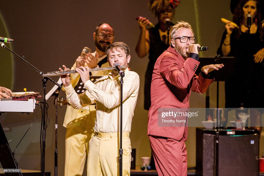 Matt Berninger performs with EL VY during Bob's Burgers Live! at Orpheum Theatre on June 18, 2017 in Los Angeles, California.