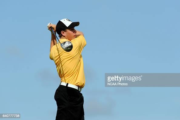 Matt Bernstein of Oglethorpe University tees off during the Division III Men's Golf Championship held at the PGA Golf Club in Port St Lucie FL...
