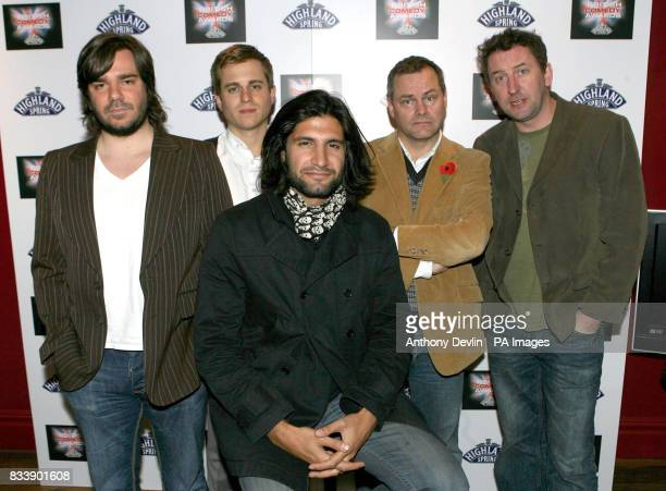 Matt Berry Kevin Bishop Kayvan Novak Jack Dee and Lee Mack pose for the media at the British Comedy Awards 2007 at the Soho Hotel in London