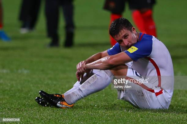 Matt Besler of the United States mens national team reacts as the USA lose to Trinidad and Tobago 21 during the FIFA World Cup Qualifier match...