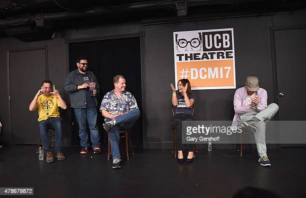 Matt Besser Horatio Sanz Ian Roberts Amy Poehler and Matt Walsh perform on stage at UCB Theater Presents The 17th Annual Del Close Improv Comedy...