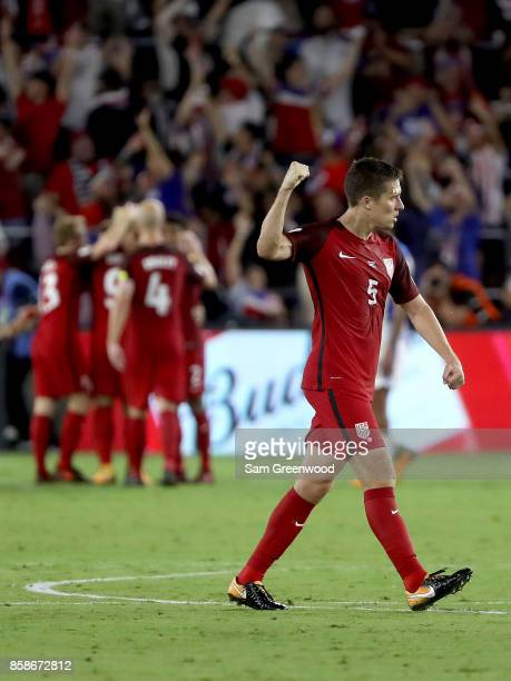Matt Bessler of the United States celebrates during the final round qualifying match against Panama for the 2018 FIFA World Cup at Orlando City...