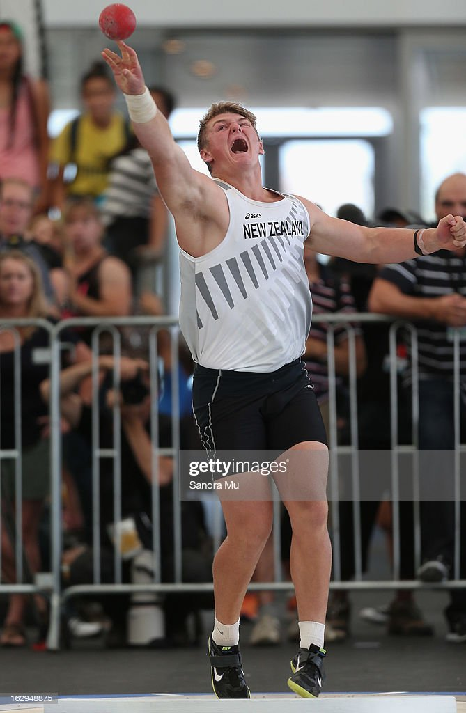 Matt Bloxham competes in The Shot In The City at The Cloud on Queen's Wharf on March 2, 2013 in Auckland, New Zealand.