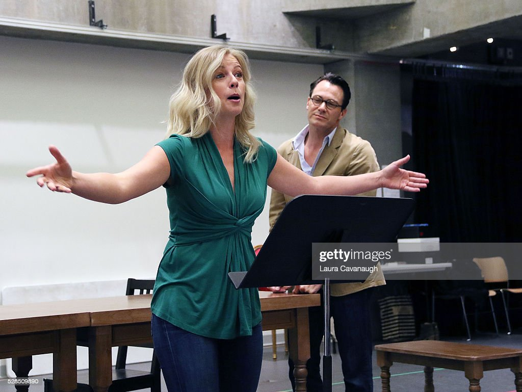 Matt Bogart and Whitney Bashor attend Meet the Company of 'Himself and Nora The Musical' at Signature Theater Rehearsal Studios on May 5, 2016 in New York City.
