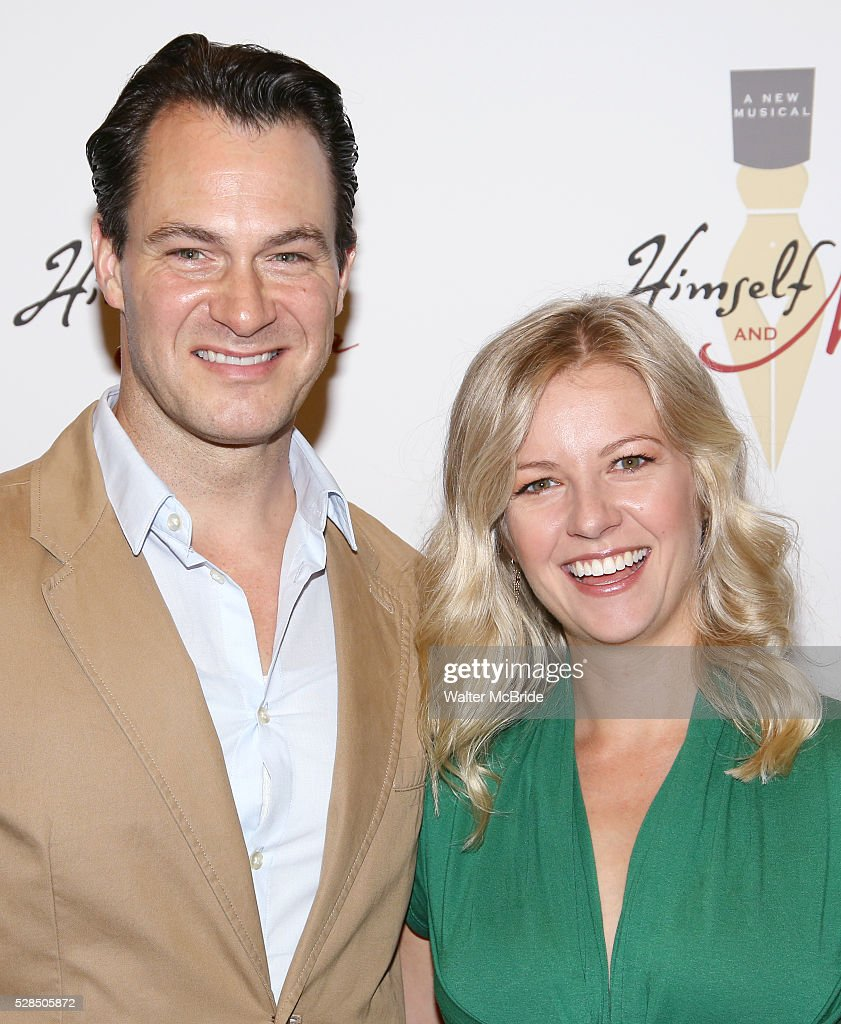 Matt Bogart and Whitney Bashor during the 'Himself and Nora The Musical' - Press Preview at the Signature Theatre Rehearsal Studios on May 5, 2016 in New York City.