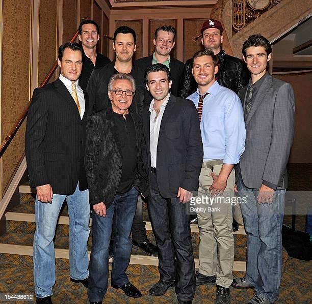 Matt Bogart Drew Gehling Jarrod Spector Jeremy Kushnier Frankie Valli Todd Fournier Brian Brigham Brandon Brigham and Landon Beard attend Frankie...