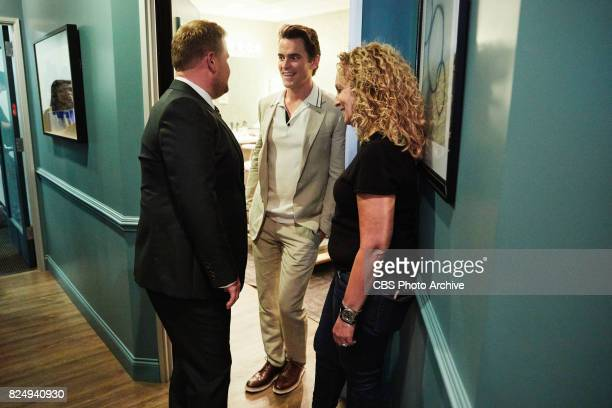 Matt Bomber chats in the green room with James Corden during 'The Late Late Show with James Corden' Thursday July 27 2017 On The CBS Television...