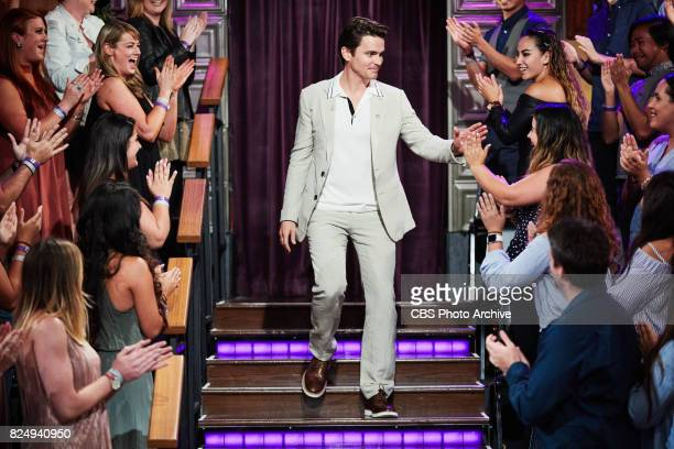 Matt Bomber greets the audience during 'The Late Late Show with James Corden' Thursday July 27 2017 On The CBS Television Network