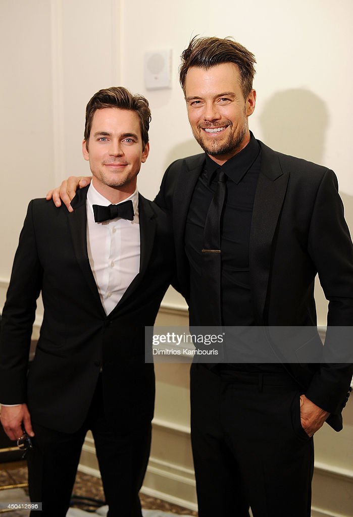 Matt Bomer (L) and Josh Duhamel attend the amfAR Inspiration Gala New York 2014 at The Plaza Hotel on June 10, 2014 in New York City.
