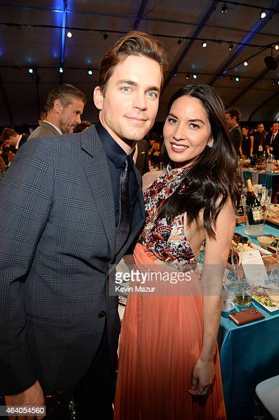 Matt Bomer and Olivia Munn attend the 2015 Film Independent Spirit Awards at Santa Monica Beach on February 21 2015 in Santa Monica California
